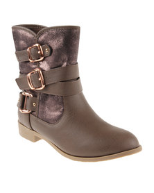 Footwork Cara Ankle Boots Stone