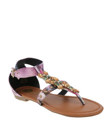 Footwork Missie Flat Sandal Purple