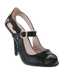Footwork Cyndi High Heel Sandal Black