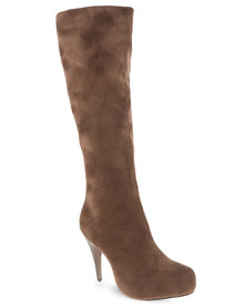 Footwork Knee High Platform Boots Brown