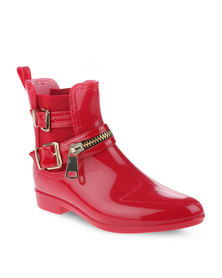 Footwork Jelly Ankle Boots Red