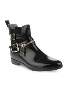 Footwork Jelly Ankle Boots Black