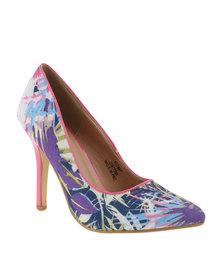 Footwork Devon Printed Court Shoes Pink