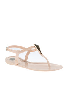 Footwork Jelly Flat Sandals Nude