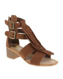 Footwork Tassel Block Heels Brown