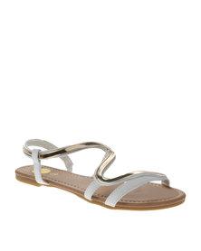 Footwork Flat Sandals White