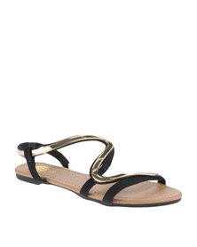 Footwork Flat Sandals Black