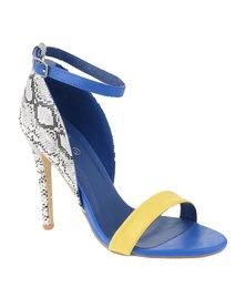 Footwork Exclusive Snakeskin Heeled Sandal Yellow/Blue