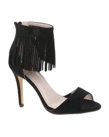 Footwork Tassel Sandals Black