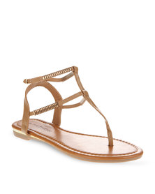 Footwork Double Strap Sandals Tan