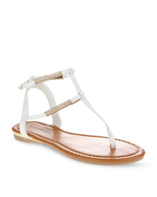 Footwork Double Strap Sandals White