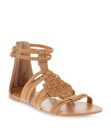 Footwork Gladiator Sandals Tan