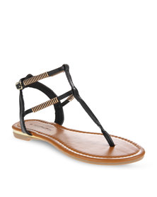 Footwork Double Ankle Strap Sandals Black
