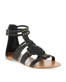 Footwork Gladiator Sandals Black