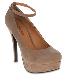 Footwork Ankle Strap Heels Nude