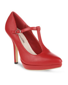 Footwork Jane Heels Red