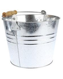 Forever Decor Galvanised Bucket Silver