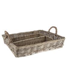 Forever Decor Willow Utensils Basket