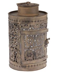Forever Decor Lantern Candle Holder Brown