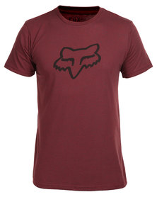 Legacy Fox Head Tee Red