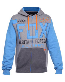 Fox Blockade Zip Thru Fleece Sweater Blue