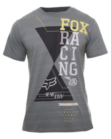 Fox Double Up T-Shirt Grey