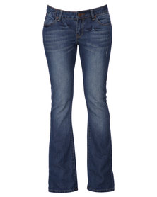 Fox Silencer Bootcut Denims Blue