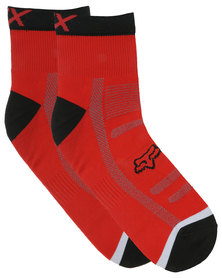 Fox Performance 4 inch Trail Socks Red