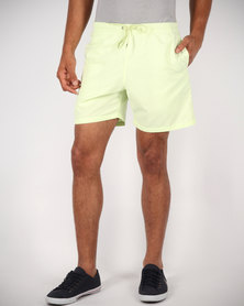 Franks Casual Shorts Yellow