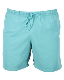 Franks Washed Pocket Swimming Trunks Blue