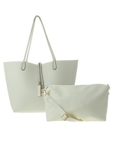 Fred Tsuya Tote and Cross Body Set Cream