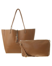 Fred Tsuya Tote and Cross Body Set Tan