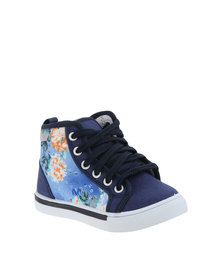 Free Time Floral High Top Sneakers Blue