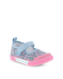 Bubblegummers Light Denim Slip On Shoes with Strap Blue
