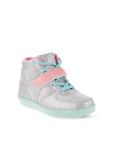 Bubblegummers Glitter High Top Sneakers Silver
