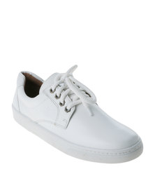 Froggie Casual Lace Up Low Cut Sneaker White