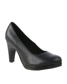Froggie  Sasha Leather Court Heel Black