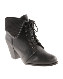 Froggie Sherrie Leather Ankle Boot Black