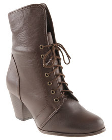 Froggie Sherrie Leather Ankle Boot Brown
