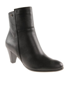 Froggie  Asia Leather Ankle Boot Black