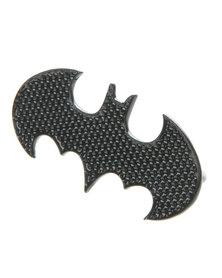 Funky Fish Double Bat Shape Ring Black