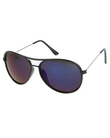 Funky Fish Blue Mirror Lens Aviator Sunglasses