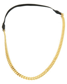 Funky Fish Gold-Tone Chain Headband