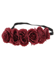 Funky Fish Flower Hair Garland Maroon
