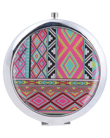 Funky Fish Geometric Print Mirror Multi