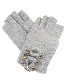 Funky Fish Button Gloves Grey