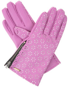 Funky Fish Floral Gloves Purple