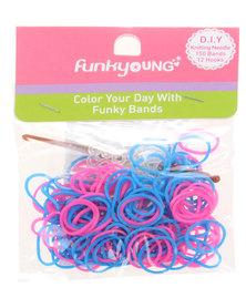 Funky Fish DIY Loom Bands & Bracelets Pink and Blue