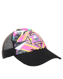Funky Fish Kaleidoscope Trucker Cap Multi