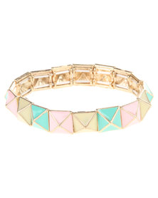 Funky Fish Star Shell Chain Bracelet Multi